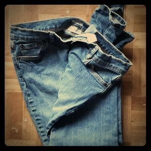 Liz Claiborne petite stretch straight leg jeans
